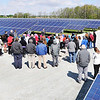 John P. Cleary |  The Herald Bulletin   FILE PHOTO<br /> The Indiana Municipal Power Agency opened the Anderson 1 Solar Park Tuesday. The 35 acre, 5 Megawatt solar farm on Park Road can provide enough power for about 500 homes. IMPA plans three new solar parks on the east side of Anderson.