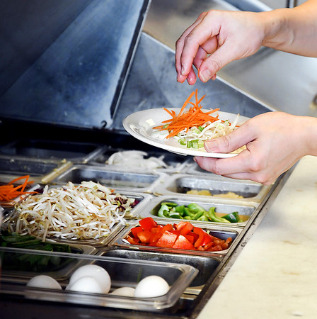 John P. Cleary | The Herald Bulletin<br /> Vegetables at the Lantern House Asian Bistro are cut fresh every day for the variety of dishes they offer on their menu.