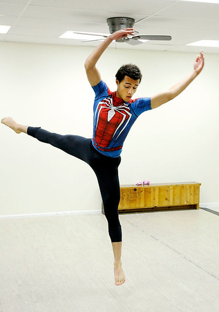 Don Knight | The Herald Bulletin<br /> Malcom Hayes III rehearses at Keep It Movin' Adademy of Dance on Wednesday. The new studio is having their first recital on Saturday.