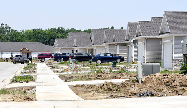 John P. Cleary | The Herald Bulletin   Bison Ridge Estates housing development being built around Elwood Golf Links in Elwood has some people moved in their homes aready.