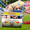 Don Knight | The Herald Bulletin<br /> From left, Campbell Kinnaman and Arihanna Kissane ride the Scrambler at the Middletown Lions Club Fair at Dietrich park on Thursday. The fair continues through Saturday.