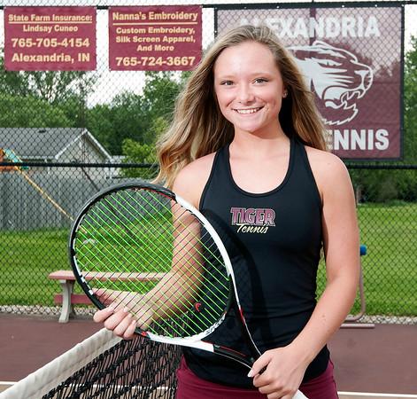 Don Knight | The Herald Bulletin<br /> The Herald Bulletin girls tennis player of the year Alexandria's McKenzie Adams.