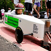 Don Knight | The Herald Bulletin<br /> Dustin Rodgers waits for the start of his race during the Anderson Soap Box Derby on Saturday.