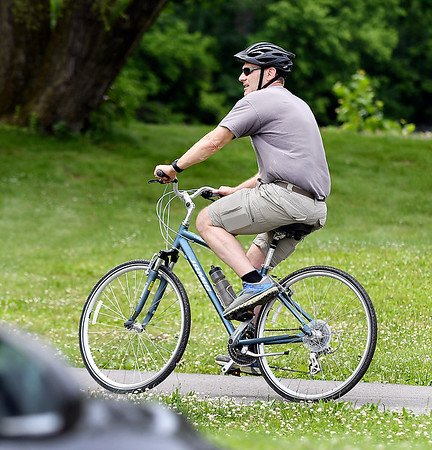 John P. Cleary | The Herald Bulletin<br /> On the first day of summer this guy was enjoying pedaling around Shadyside Park on his two-wheeler.