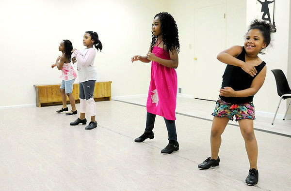 Don Knight | The Herald Bulletin<br /> Jamya Ingram, R'Monte Duke, John'ee Ingram and Kerrington Norman rehearse at Keep It Movin' Adademy of Dance on Wednesday. The new studio is having their first recital on Saturday.
