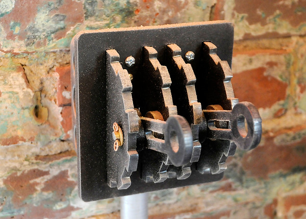 Don Knight | The Herald Bulletin<br /> Unique light switches in the former fire station on third street that is being renovated into a business office for Picket Fence Property Company.