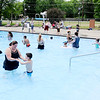 Don Knight | The Herald Bulletin<br /> Anderson's Southside Pool is open for the season. Admission is free and children 12 and under need to be accompanied by and adult.