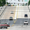 John P. Cleary | The Herald Bulletin<br /> The Eisenhower Bridge over White River in Anderson is now open to traffic in both directions for East Eight Street. The new span was opened late Tuesday after more then a year and a half of construction and traffic detours for the $16 million project.