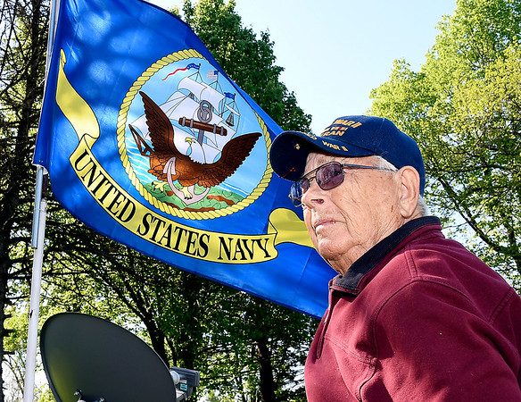 John P. Cleary   The Herald Bulletin <br /> WWII Navy veteran Paul Gladney for D-Day story.