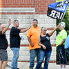 A pro-police demonstration was held in front of the Anderson Police Department Monday evening. Rally goers would wave and cheer as a police car would go by during the 2-hour rally.