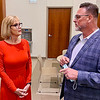Lt. Gov. Suzanne Crouch speaks with Darrell Mitchell, CEO of Progress House, during a tour of the Mockingbird Hill Recovery Center in Anderson on Wednesday morning.
