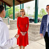 Barbara Scott, left, CEO of Aspire Indiana Health, speaks with Lt. Gov. Suzanne Crouch and Darrell Mitchell, CEO of Progress House, during a tour of the Mockingbird Hill Recovery Center in Anderson Wednesday morning.