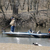 An angler fishes the lake at Shadyside on Friday. The proposed Mounds Lake Reservoir would be stocked with popular game fish species including Bass and Crappie according to CED director Rob Sparks.