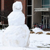 Monday's heavy spring snow was perfect for making snow men like this one in front of the Kardatzke Wellness Center at Anderson University.