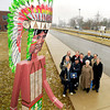Representatives from St. Vincent Anderson Regional Hospital, ACS, Anderson High School, and the Walking Man Project gathered at Anderson High School Friday morning for a presentation to the school from St. Vincent of a Walking Indian.  The new Walking Indian graces the front lawn of the school near for main entrance.