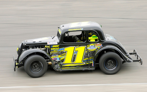 Andy Jones wins the 25 lap Legends feature race during opening night at Anderson Speedway on Saturday.