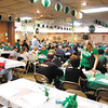 The Knights of Columbus hall was all decked out for their annual St. Patricks's Day celebration Monday serving their Irish stew and green beer.