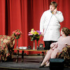 "Zach Myers is Dr. Chumley and Sydney Brobst is Veta Simmons in the Anderson High School production of ""Harvey."""