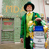 "Mitch Potts, store manager for the Anderson Lowe's, dressed up as a leprechaun Friday to help raise money for Muscular Dystrophy.  Every year Lowe's in Anderson raised money for MD with all the money collected staying in this area to assist local families battling the disease.  Potts goal was to raise $300 and it took the ""leprechaun"" about 4 hours to reach his goal.  The stores' final goal at the end of the month is to raise $7500."
