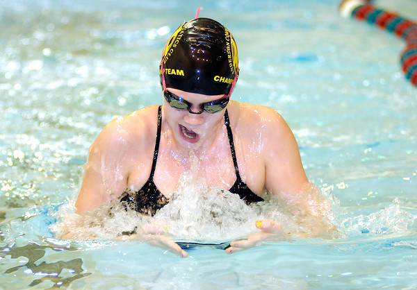 Hannah Boerner practices at Anderson High School on Thursday. Boerner is one of seven ACAC swimmers competing in a state meet this weekend.