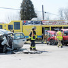 Indiana 32 was closed in Chesterfield after a two vehicle crash on Saturday.