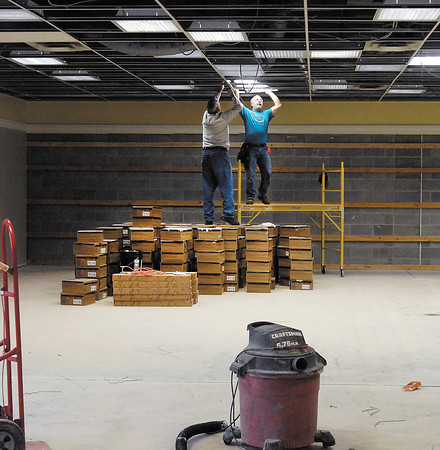 Work continues at the old Family Christian Store in the 2000 block of University Blvd.that is to be the new location of a Sears Hometown Store.