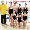 Representing ACAC at a state meet this weekend kneeling from left are Erin Brazel, Allie Bramwell and Alexa Bramwell, standing from left are coach Todd Grinner, Hannah Boerner, Will Lashbrook, Meri Gray and Aspen Bond.