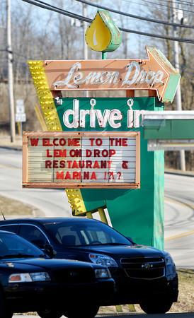 The Lemon Drop sign about the reservoir.