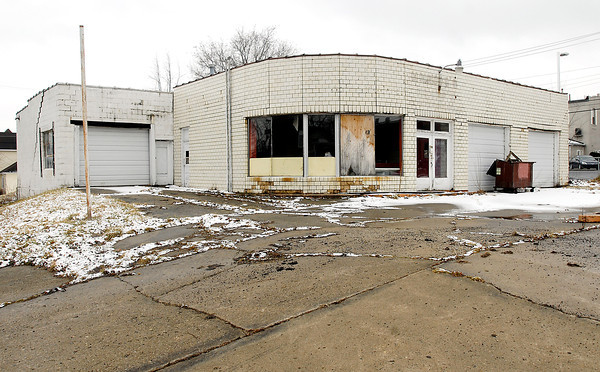 This abandoned gas station on the SW corner of South Wayne and Washington Streets in Alexandria is a site the Alexandria Redevelopment       Commission wants to reclaim for development.