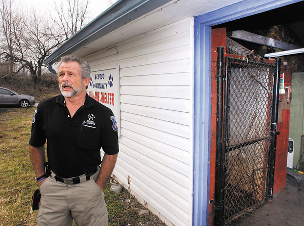 Elwood Humane Officer Monte McCorkle Sr. talks about the need for a  new animal shelter to replace this small 4 kennel building with no running water to help keep it clean.