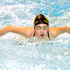 Meri Gray practices at Anderson High School on Thursday. Gray is one of seven ACAC swimmers competing in a state meet this weekend.
