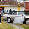 This car ran off the road Monday afternoon and ended up in the house at 2640 Nichol Ave.