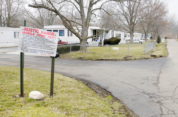 The Rustic Manor Mobile Home Park would be displaced if the Mounds Lake Reservoir proposed for Madison and Delaware Counties is built.