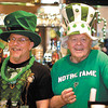 During the Knights of Columbus annual St. Patricks's Day celebration Gary Benefiel and Mike Wulle were the decked out bartenders.