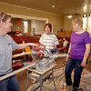 John P. Cleary / The Herald Bulletin<br /> Leading the effort to restore Summitville United Methodist Church's sanctuary are Dee Amos, Cathy Blalock, and Peggy Bailey.