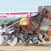 Don Knight | The Herald Bulletin<br /> Peter Wrenn drives Fsolatdo Bluegrass to win the second race during the opening night of standard bred racing at Hoosier Park on Friday. Hoosier Park has moved up their first post 30 minutes to 5:15 p.m.