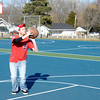 Don Knight / The Herald Bulletin<br /> Justin Holt practices his free throw shot at Pulaski Park on Friday. A snow storm forecast for the weekend is expected to cover Madison County with a fresh blanket of snow.