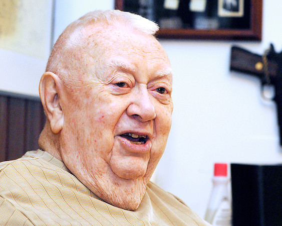 John P. Cleary | The Herald Bulletin<br /> Ted Vinson, a 63-year resident of Edgewood, has written a book on the history of that community, 'Remembering Edgewood'.