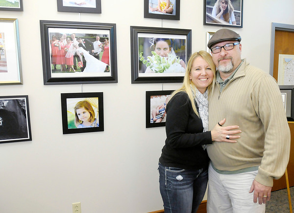 Don Knight / The Herald Bulletin<br /> Photographers and husband and wife Jack and Susan Boldman are part of the new artists display at the Visotors Bureau.