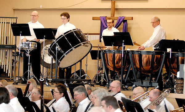 David Humphrey / Photo<br /> Percussionists maintain the rhythm for the Lapel Community band.