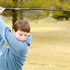 Don Knight / The Herald Bulletin<br /> Curtis Patterson, 15, gets in some practice at the driving range at Meadowbrook Golf Course on Thursday, the first day of Spring.