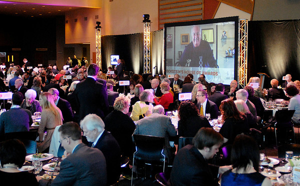 John P. Cleary/The Herald Bulletin<br /> The annual Madison County Chamber awards gala was held Thursday evening at Madison Park Church of God.