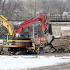 THB photo/John P. Cleary<br /> Work going on at the old GM property near 32nd St. and Scatterfield Rd.