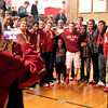 John P. Cleary | The Herald Bulletin<br /> Students and fans got a chance to take photos of the Liberty Christian basketball team as the school held a celebration of their basketball season Tuesday evening.