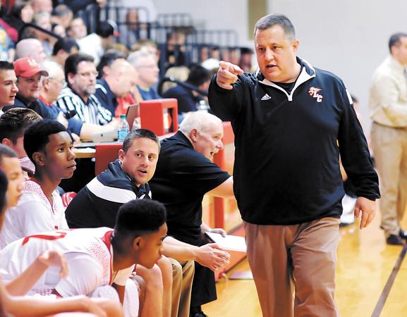 John P. Cleary | The Herald Bulletin<br /> Liberty Christian head basketball coach Jason Chappell.