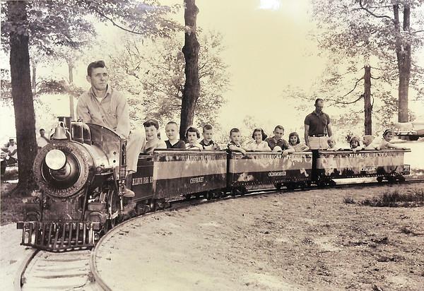 "John P. Cleary | The Herald Bulletin<br /> A photograph of the ""Killbuck Flyer"" at Killbuck Park in the late 1950s."