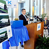 John P. Cleary |  The Herald Bulletin<br /> Tadao Okamura, President of NTK Precision Axel Corp., addresses a press conference, along with Anderson Mayor Thomas Broderick, Jr. and Jim Schellinger, Indiana Secretary of Commerce, that announced the building of a new 300,000 square foot manufacturing facility in Anderson.