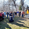 John P. Cleary |  The Herald Bulletin<br /> Approximately 50 people turned out for the dedication of a Indiana state historical marker examining the 1824 murders of nine American Indians in Madison County Wednesday in Pendleton.