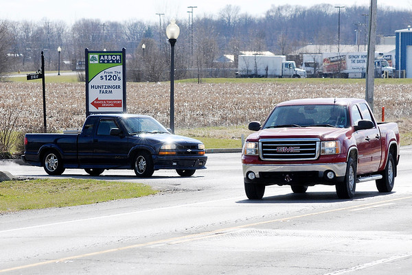 Don Knight | The Herald Bulletin<br /> More than 150 residents have signed a petition to add a turn lane at the intersection of Huntzinger Boulevard and Indiana 67.