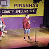 "Mark Maynard | For The Herald Bulletin<br /> As the other Spellers, Rona Lisa Peretti (Jessica Cookston), Vice Principal Douglas Panch (Andy Ober) and Offical Comfort Counselor Mitch Mahoney (Steve Fleck) look on, Audience Speller Jesus Llamas awaits his word in Mainstage Theatre's presentation of ""The 25th Annual Putnam County Spelling Bee."""